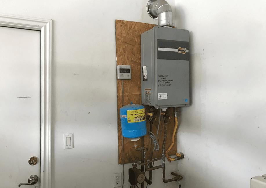 Tankless Water Heater Before